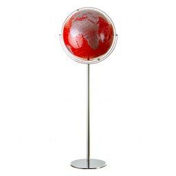 Jordglob golvmodell röd/silver