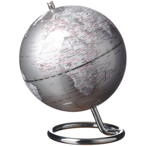 Jordglob Galilei silver 13 cm