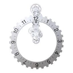 Väggklocka Big Hour Wheel silver