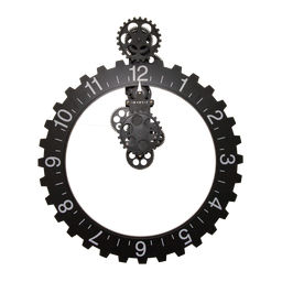 Väggklocka Big Hour Wheel svart