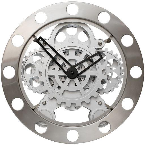 Väggklocka kugghjul stålring