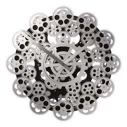 Väggklocka Round Gear Clock svart