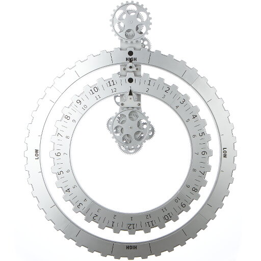 Väggklocka Truth Time Piece silver