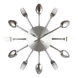 Väggklocka Fork Knife Spoon