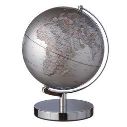 Globus sølvfarvet med belysning