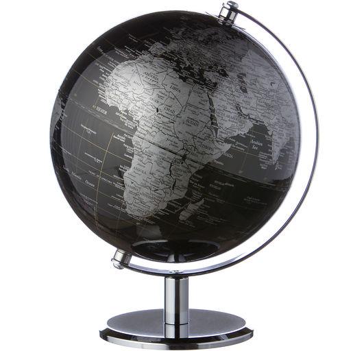 Globus sort/sølv 20 cm
