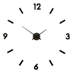 Väggklocka med lösa siffror svart