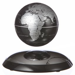 Svävande jordglob svart