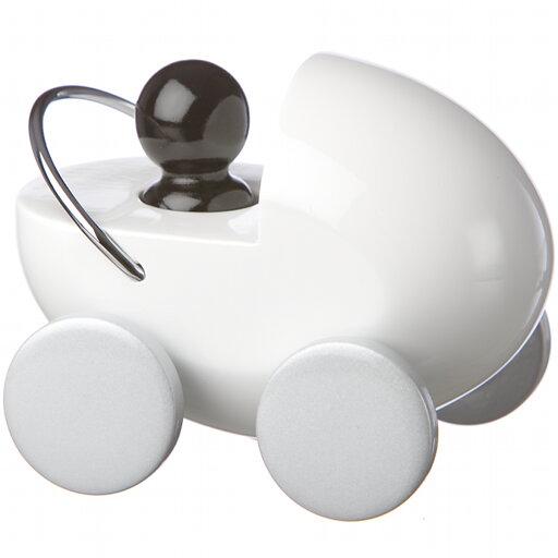 Playsam dockvagn vit/silver