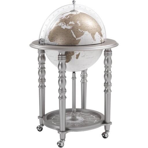Jordglobsbar Zoffoli Elegance silver/vit