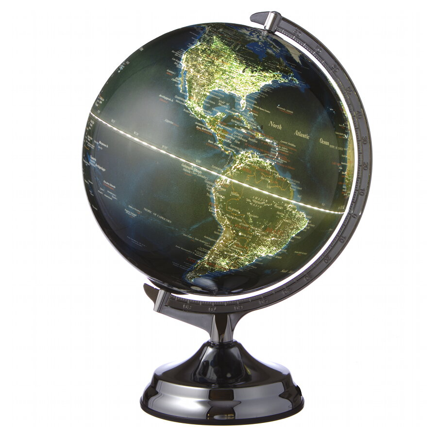 Karttapallo Valaistuksella Joka Osoittaa Milta Maapallo Nayttaa